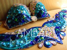 Turquoise Bellydance Costume