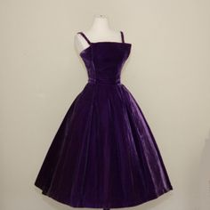 vintage 1950's Suzy Perette glamorous royal purple by dLeChe, $240.00
