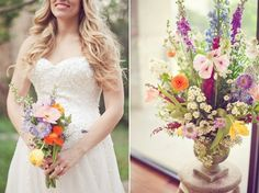 Summer wedding with country flowers