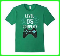 Mens Video Game Humor 5th Birthday Tee Funny Gamers Gift T Shirt Large Kelly Green - Gamer shirts (*Amazon Partner-Link)