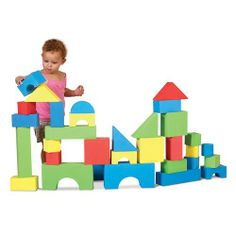 The big edu-color blocks are a favorite for children and teachers. The light weight and large size of the blocks give children endless building possibilities.