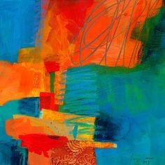 Blue Orange 2 Print By Jane Davies