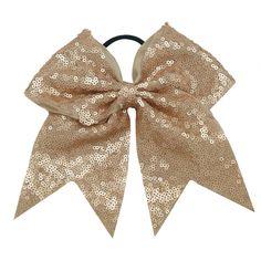 Almond Sparkle Cheer Bow