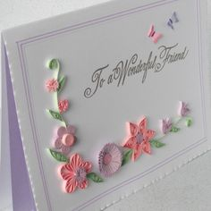 A lovely assortment of handmade quilled flowers, in pretty shades of pink and lilac. Description from folksy.com. I searched for this on bing.com/images
