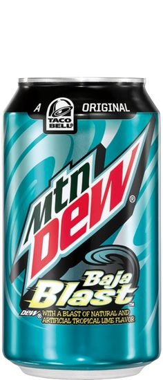 Mtn Dew Baja Blast: You've waited 10 long years for this but it's only available for a limited time! Mtn Dew Baja Blast, Mnt Dew, Fun Drinks, Beverages, Carbonated Soft Drinks, Pepsi Cola, Glow Party, Soda Bottles, Mountain Dew