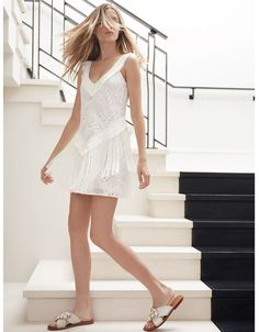 Alexis Austin Lace Dress with Layered Fringe