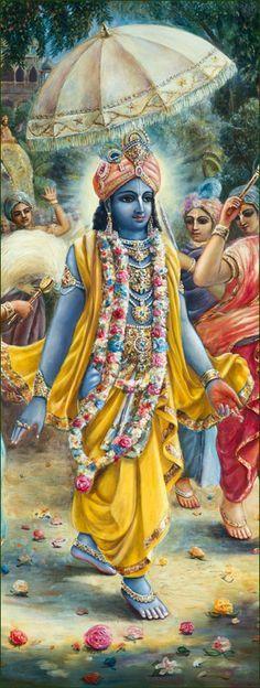 srila prabhupada and krishna painting - Google Search