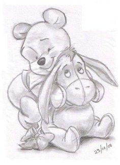 Winnie the Pooh and Eeyore