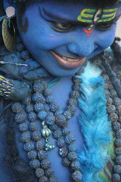 Dressed Like Shiva in Pushkar