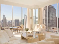NYC. Manhattan. Dreamy view on a clear day