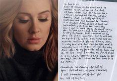 """Adele ainda não chegou sequer aos 30 e tem uma carreira inteira pela frente, mas para a infelicidade de seus fãs ela lhes deu uma notícia nada animadora nesta semana. Em uma carta escrita à mão divulgada nas redes sociais, a artista falou que não tem certeza se sairá novamente em uma turnê em sua vida. Há 15 meses viajando para divulgar seu mais recente álbum, """"25"""", a cantora completará 123 shows no dia 2 de julho, quando fará o último deles em sua cidade natal, Londres. Durante todo este…"""