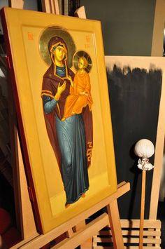 Original Portrait Painting by Anda Tzara Original Paintings, Original Art, Orthodox Icons, Gouache Painting, Tempera, Figurative Art, Wood Art, Buy Art, Saatchi Art