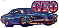 GTO Vintage 70s Hot Rod Muscle t-shirt iron-on transfer authentic NOS retro american fashion by Roach