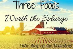 Three Foods Worth The Splurge - http://www.littleblogonthehomestead.com/three-foods/
