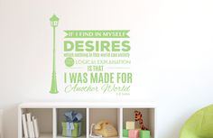 Made For Another World - C.S. Lewis Wall Quote Decal | Dana Decals