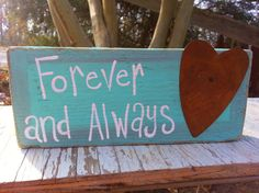 Forever and Always Block by thecountryshed on Etsy, $7.00