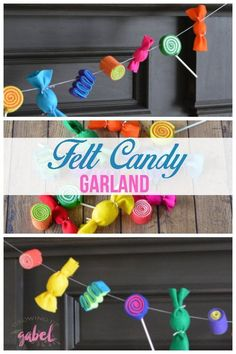 A fun DIY candy garl
