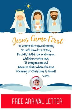 Elf on the Shelf Arrival Ideas: Remind your kids of the REAL reason for the Christmas season with this faith based free printable arrival letter! It will remind them that Jesus came first (long before your Elf!) and that He is the real reason (but they ca Welcome Back Letter, Welcome Letters, Elf On The Self, The Elf, Elf Letters, Elf On Shelf Letter, Awesome Elf On The Shelf Ideas, Goodbye Letter, Christmas Elf