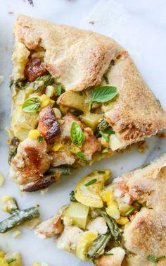 Summer Chicken Pot Pie Galette With Herbed Crust