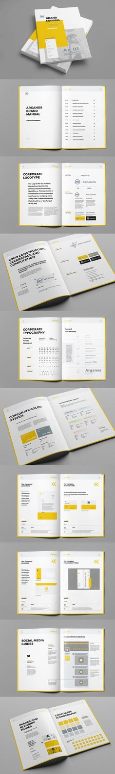 Professional Brand Manual Brochure Template InDesign INDD