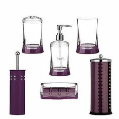 Purple And Silver Bath Accessories - Smart usage of bathroom accessories can create the impression of an entirely new room. Green Bathroom Mirrors, Small Bathroom With Tub, Bathroom Vanity Storage, Bathroom Vanity Designs, Small Bathtub, Silver Bathroom, Purple Bathrooms, Small Bathroom Organization, Bathroom Wall Decor