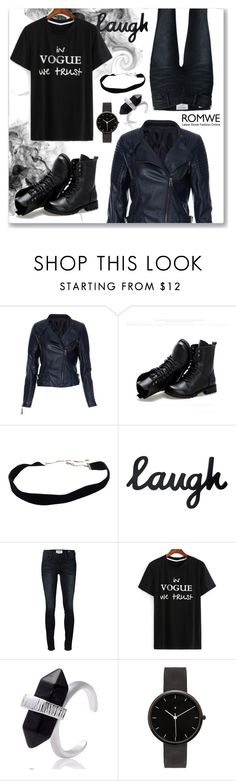 """""""ROMWE VI"""" by abecic ❤ liked on Polyvore featuring Sunsteps, Frame Denim, I Love Ugly and romwe"""