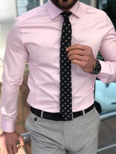 Feb 2020 - Collection: Spring – Summer Product: Slim Fit Cotton Shirt Color Code: Pink Shirt Material: cotton Available Size: S-M-L-XL-XXL Machine Washable: Yes Fitting: Slim-Fit Package Include: Shirt Only Mens Fashion Blazer, Mens Fashion Sweaters, Mens Fashion Wear, Suit Fashion, Mens Dress Outfits, Formal Men Outfit, Men Dress, Mens Pink Dress Shirt, Slacks Outfit