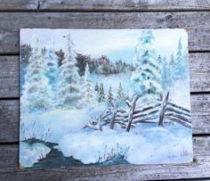 A personal favorite from my Etsy shop https://www.etsy.com/ca/listing/239918474/original-oil-painting-winter-landscape