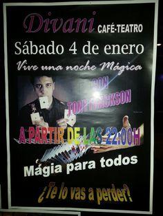 Magia en el bar, pubs, restaurantes. Mago Tony Frackson en Badajoz.