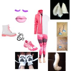 FNaF Mangle by pokecrafter on Polyvore featuring Superdry, Asics, Freddy,  Napoleon Perdis and