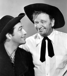 """Robert Taylor and Wallace Beery in """"Stand Up and Fight"""", 1939"""