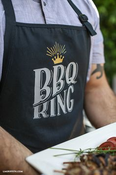 Create this easy DIY Apron for your BBQ King