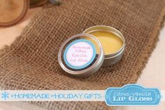 Homemade Organic Citrus-Vanilla Lip Gloss: A perfect Holiday Gift Idea!