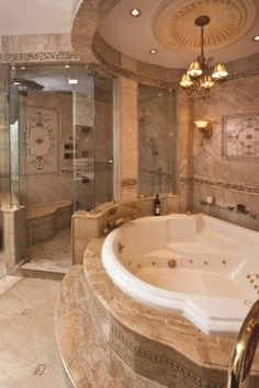 Remodeling your bathroom and need ideas for what style of bathtub to purchase? When remodeling your bathroom from the ground up, there are many different things that you can do to have Romantic Bathrooms, Dream Bathrooms, Amazing Bathrooms, White Bathrooms, Luxury Bathrooms, Master Bathrooms, Master Bedroom, Dream House Interior, Dream Home Design