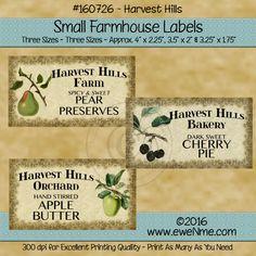 Farmhouse Labels - Harvest Hill Fruit