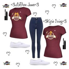 """""""Cleveland won guys!!!"""" by ahriraine ❤ liked on Polyvore featuring adidas, Topshop, Vans and Illamasqua"""