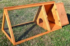 Rabbit cages by AWESOMEDESK on Etsy, $135.00  A-Frame rabbit cage