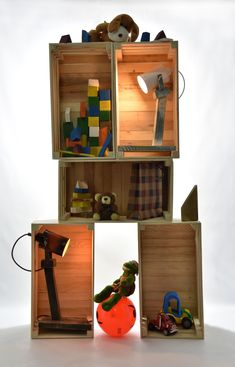 Crate Kids Shelves #3 Dimensions: width 49 depth 27cm height 23cm Materials: Wood