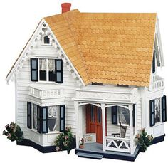 $99 Corona-Concepts-8013-Greenleaf-The-Westville-Wooden-Wood-Dollhouse-Kit