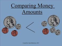 Smart Notebook focusing on counting and comparing money amounts.