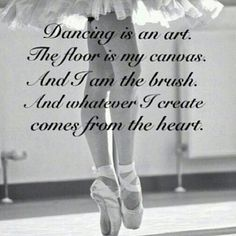 I absolutely agree and love this  poem. I think who ever wrote it had a passion for dancing!! #Dance4Ever