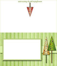 free printable Christmas trees place card