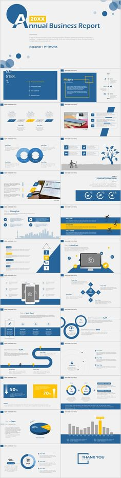 25+ Simple Blue annual report PowerPoint Template #powerpoint #templates #presentation #annual#report #business #company #design #creative #slide #infographic #chart #themes #ppt #pptx#slideshow#keynote
