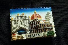 Tourist Souvenir 3D Resin Travel Fridge Magnet Italy Italia #Italy #Italia
