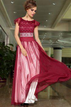 Slim vin robe de soirée rouge haut de gamme