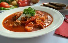 Výborný ukrajinský boršč recept   Vaření.cz Thai Red Curry, Chili, Soup, Ethnic Recipes, Chile, Chilis, Soups, Chowder