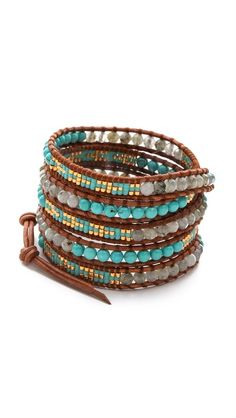 Chan Luu Two Tone Wrap Bracelet