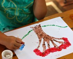 Draw a simple picture for your children and then have them fill it in using q-tips to make a pointillism painting.