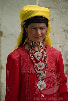 China | Tajik woman in traditional dress, Tashkurgan, Xinjiang | ©Robert Harding Picture Library