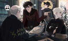 Them so unbelievably beautiful harry draco, harry potter anime, harry potte Draco Harry Potter, Harry Potter Draco Malfoy, Harry Potter Drawings, Harry Potter Ships, Harry Potter Anime, Harry Potter Universal, Harry Potter Characters, Harry Potter World, Harry Potter Memes